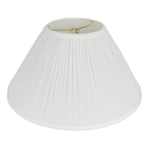 lamp shade 6 x 16 x 10'' / Mushroom / White Coolie Hardback Pleated Lamp Shade