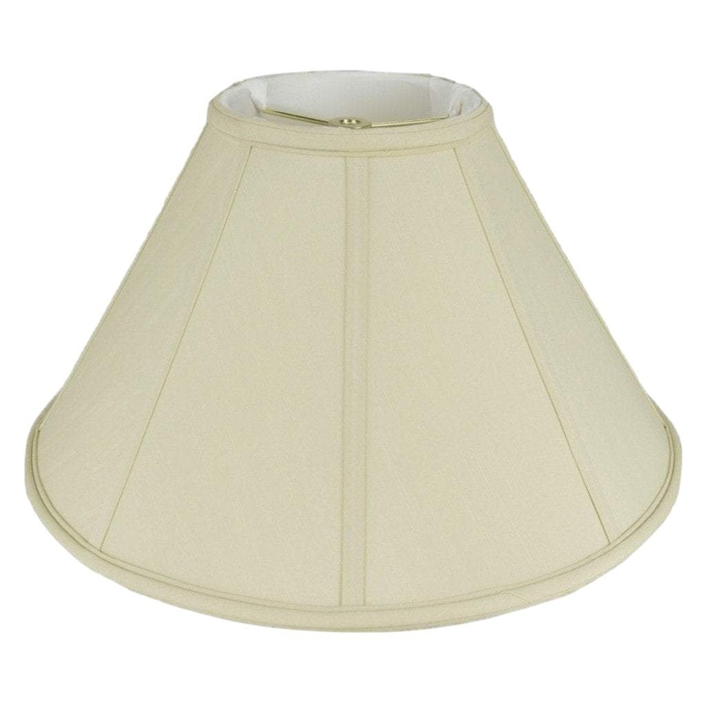 lamp shade 6 x 16 x 10'' / Shantung / Beige Coolie Soft Lining Lamp Shade