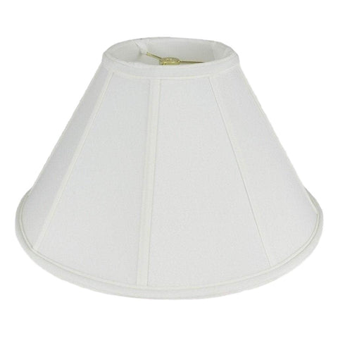 lamp shade 6 x 16 x 10'' / Shantung / White Coolie Soft Lining Lamp Shade