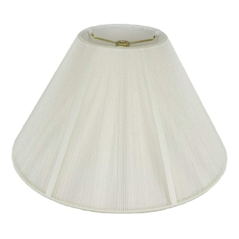 lamp shade 6 x 16 x 10'' / Silk String / Off White String Coolie Soft Lining Silk Lamp Shade