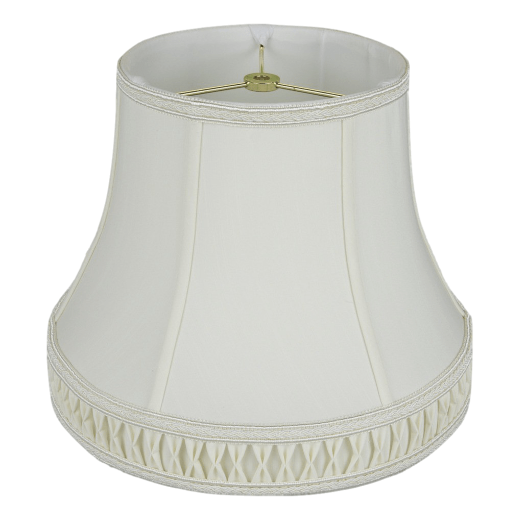 Shantung Silk Bell With Smocked Pleated Cuff Lamp Shade Free Shipping Lamp Shade Solution