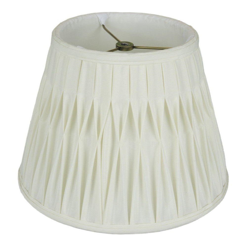 lamp shade 7.5 x 12 x 9'' / Shantung / Eggshell Empire Smocked Pleated Lamp Shade