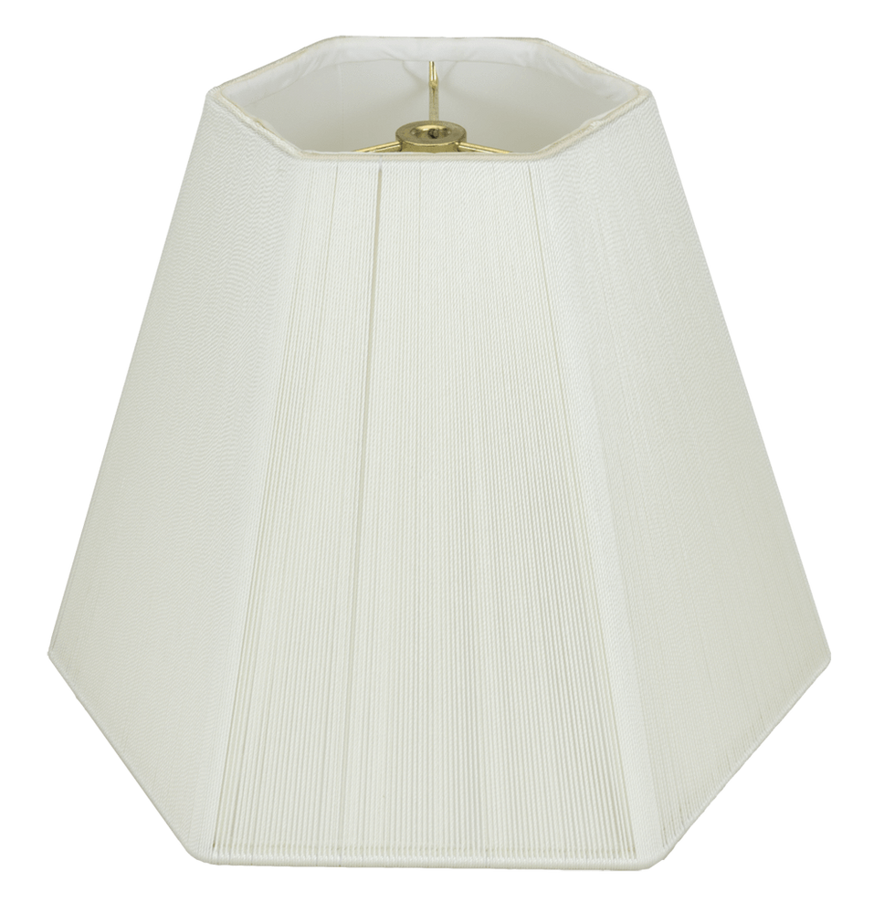 lamp shade 7 x 14 x 10.5'' / Silk String / Off White Hexagon With Hand Sewn Silk String Lamp Shade