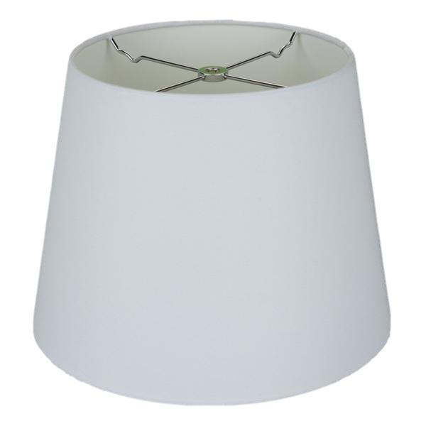 lamp shade 9 x 12 x 9'' / Handkerchief Linen / Off White Handkerchief Linen British Empire Rolled Edge Hardback Lamp Shade