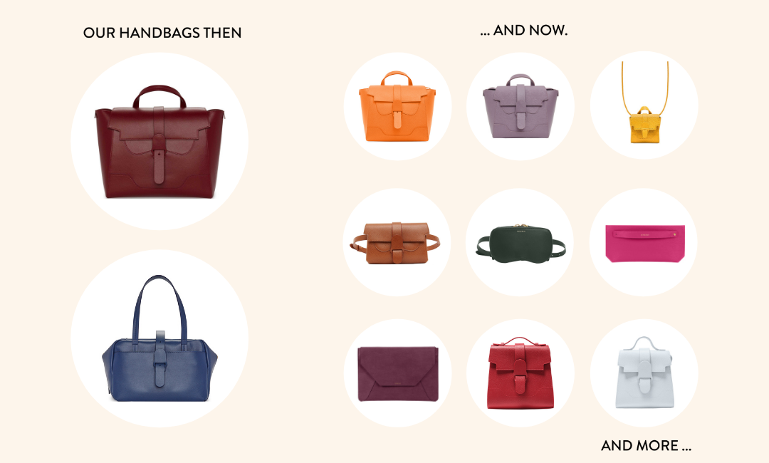 SENREVE Handbags Then and Now