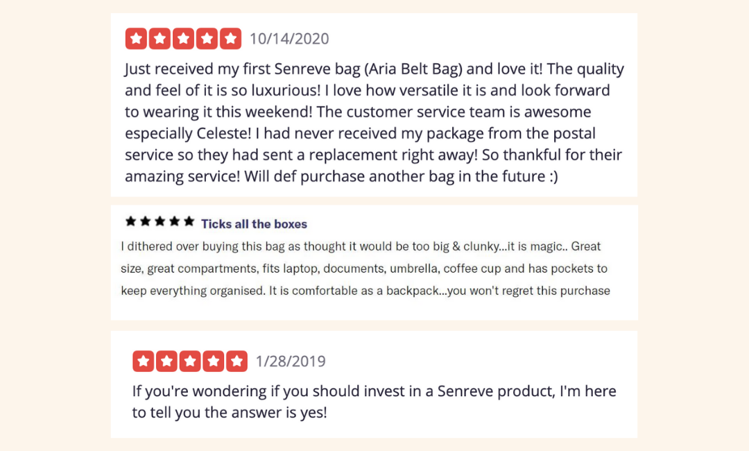 SENREVE Reviews