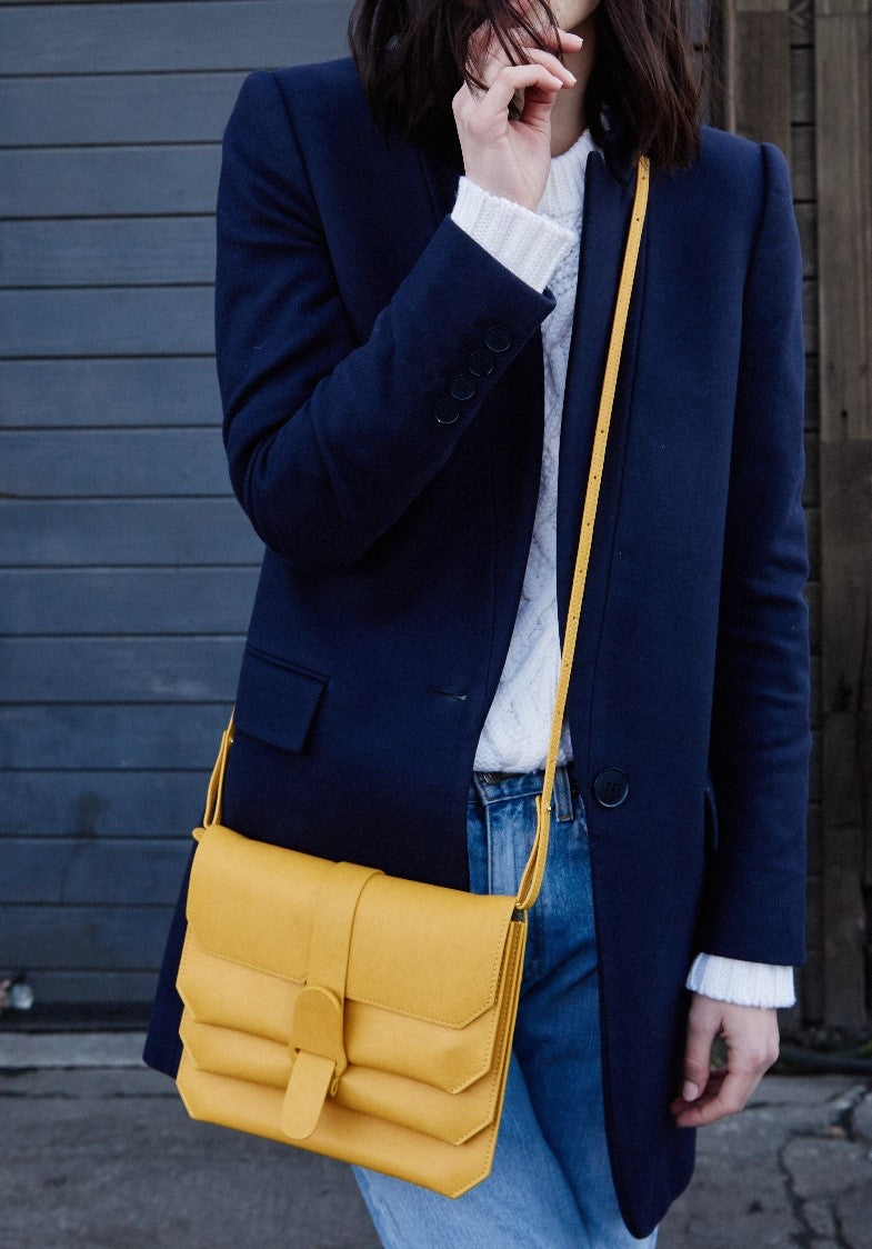 Woman and Yellow Crossbody