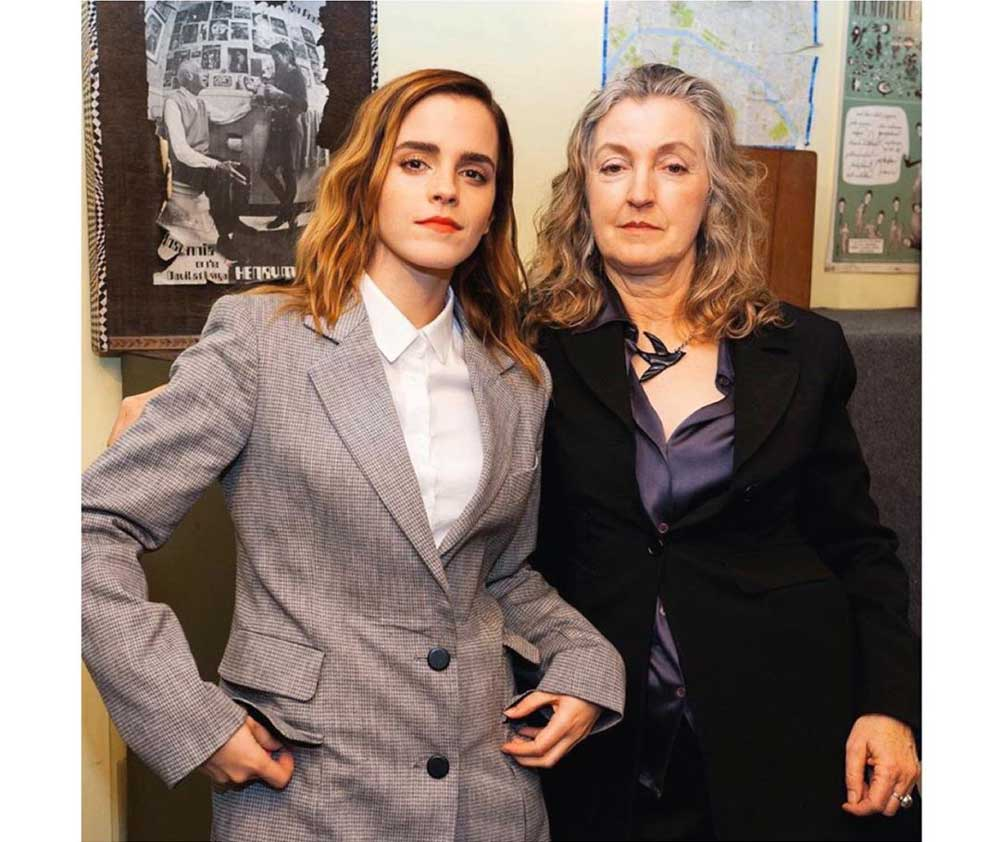 Emma Watson with Rebecca Solnit