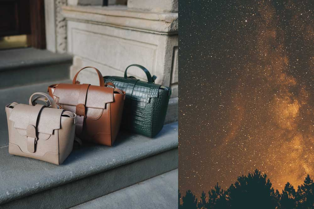 Brown and Green Handbags