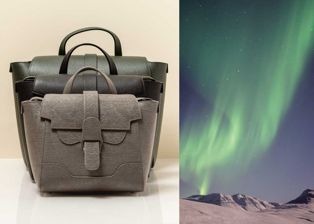 Three Handbags and Northern Lights