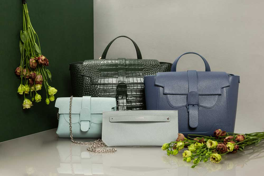 Assorted Handbags in Blue and Green