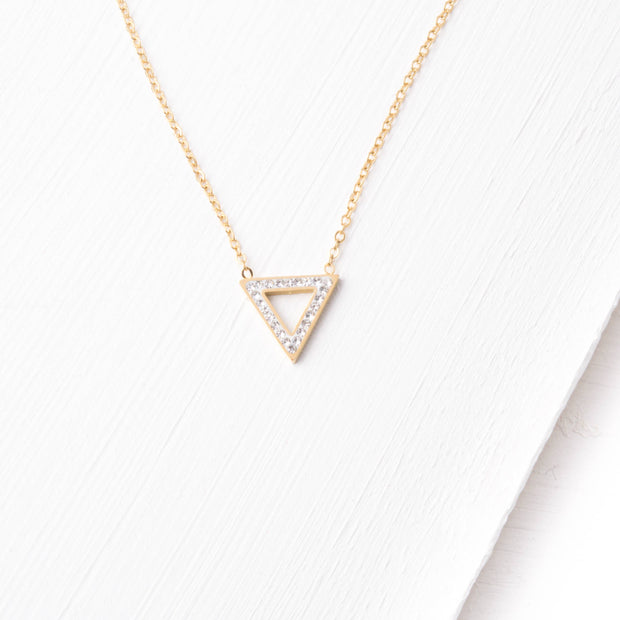 Izzy Gold Triangle Necklace