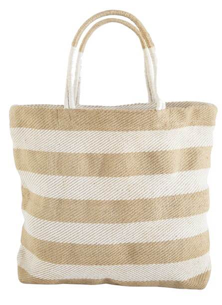 Thick Striped Shopper: Tan-The Ethical Olive