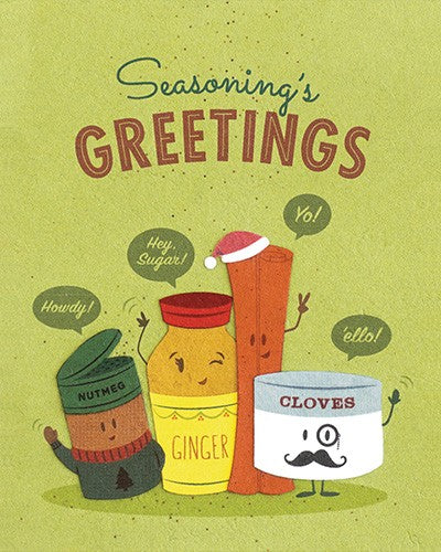 """Seasonings Greetings"" Card-The Ethical Olive"