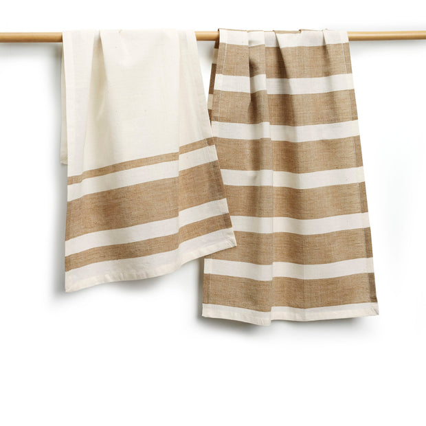 Brown and White Tea Towels-The Ethical Olive