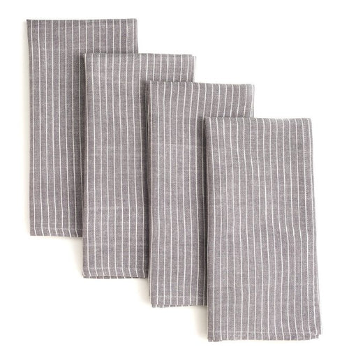 Grey Stripes Napkin Set - The Ethical Olive