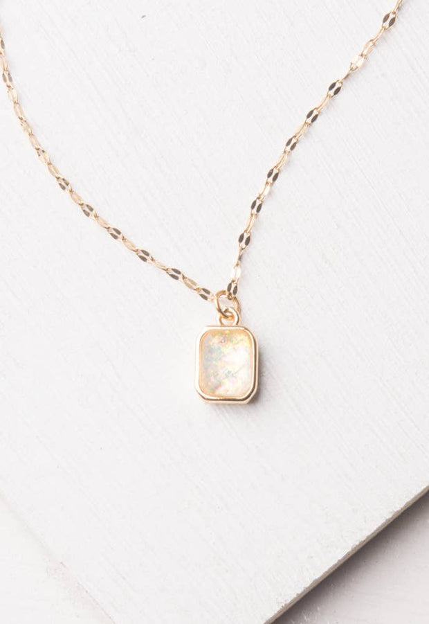 Lila White and Gold Necklace