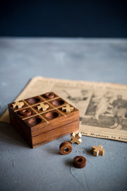 Wooden Tic Tac Toe Game-The Ethical Olive