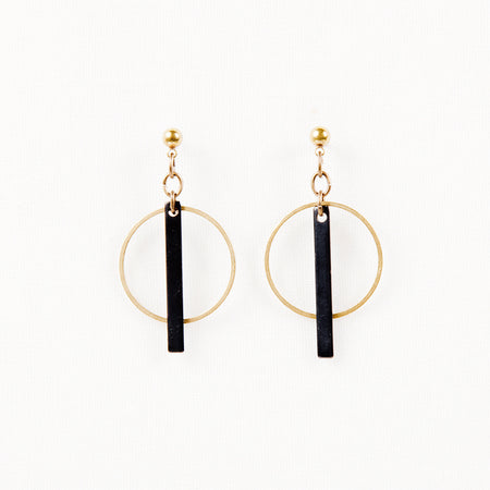 Hoop + Bar Earrings-The Ethical Olive