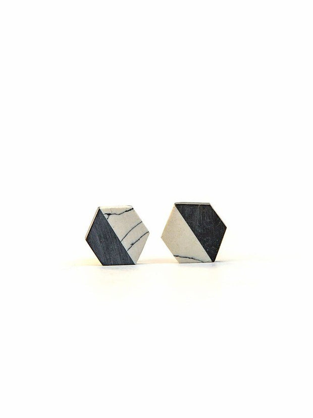 Balanced Geometry Stud Earrings-The Ethical Olive