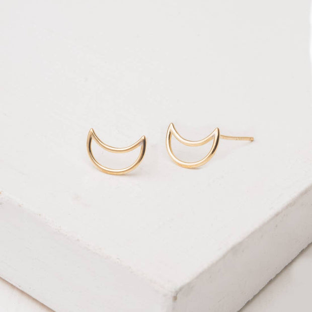 Crescent Earrings-The Ethical Olive