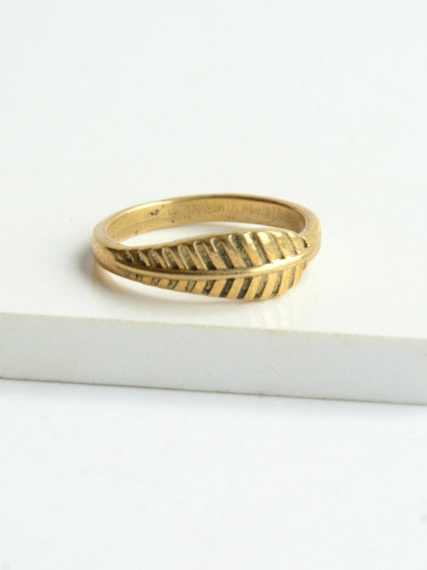 Feather Ring-The Ethical Olive
