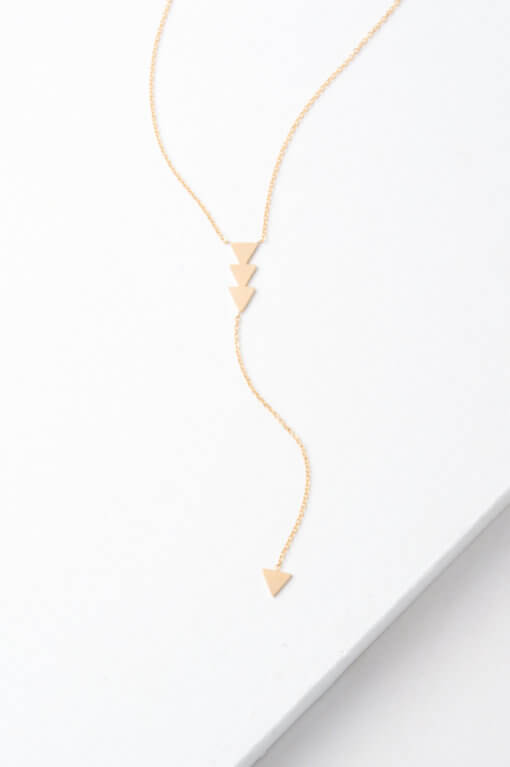 Gold Arrow Drop Necklace
