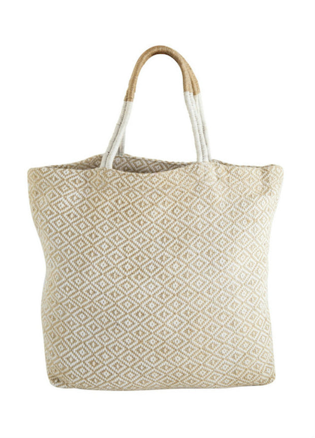 White Diamond Jute Shopper-The Ethical Olive