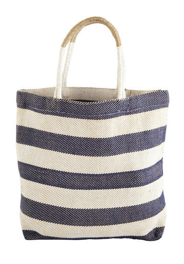 Thick Striped Shopper: Indigo