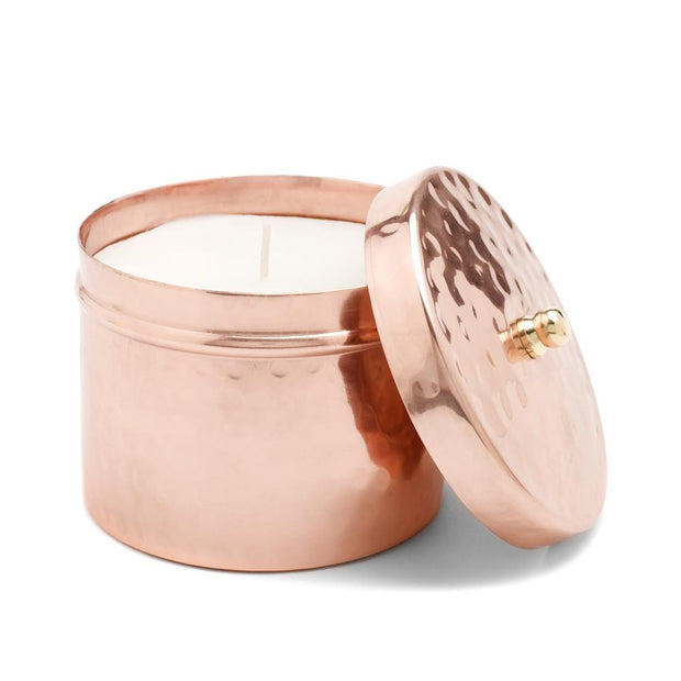 Hammered Copper Candle-The Ethical Olive