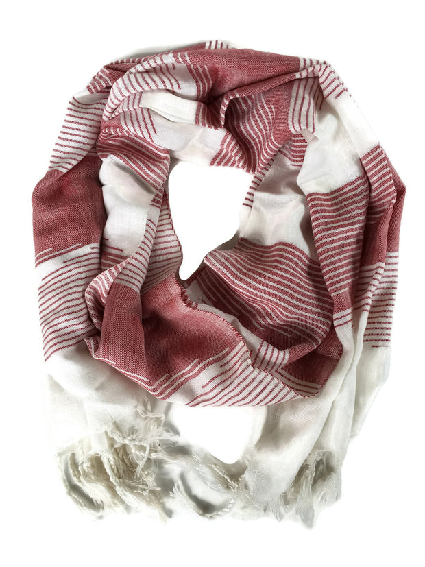 Malak Maroon Scarf-The Ethical Olive