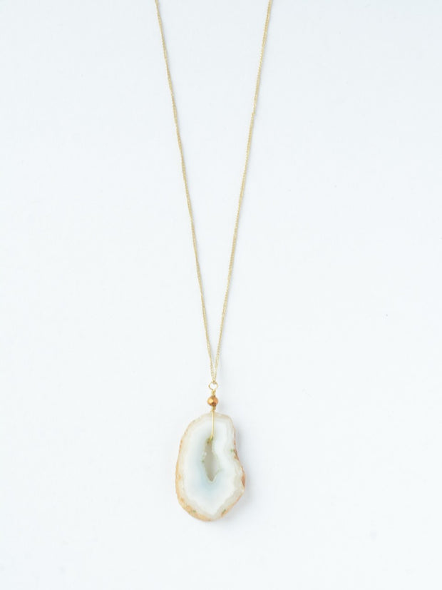 Geode Necklace-The Ethical Olive