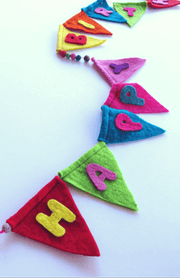 Felt Happy Birthday Banner-The Ethical Olive