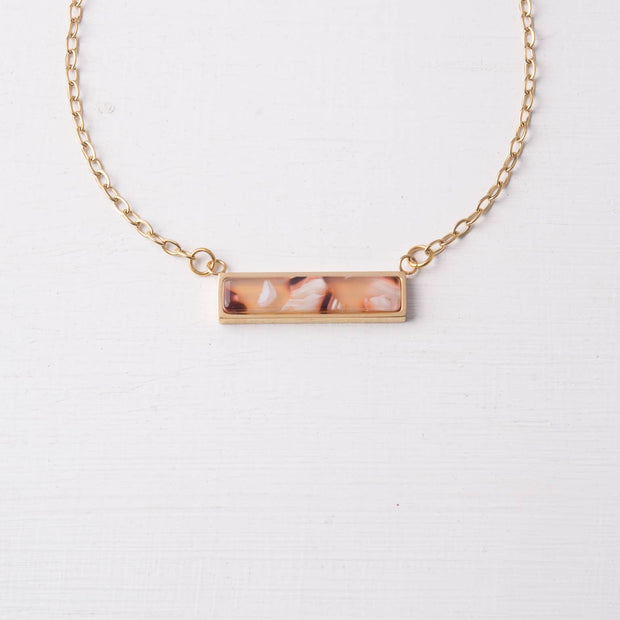 Ada Pink Resin Necklace
