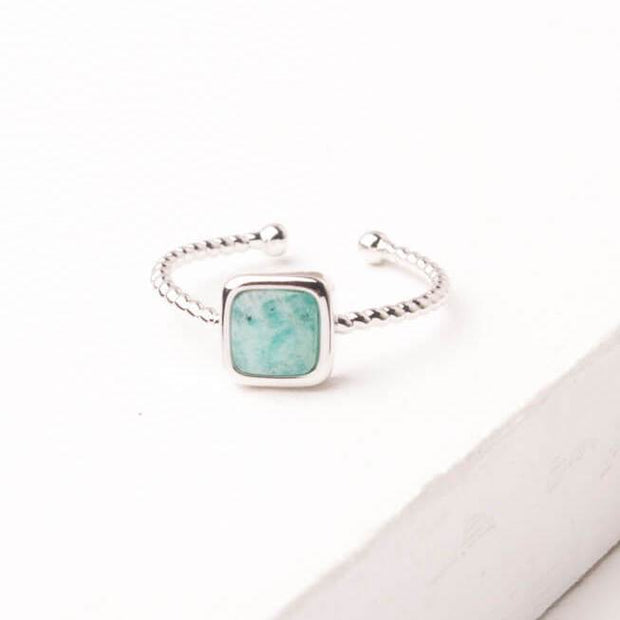 Silver + Amazonite Ring