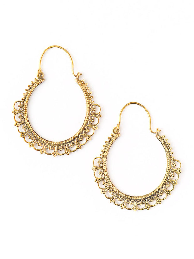 Paint Me Gold Earrings-The Ethical Olive