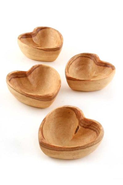 Olive wood Mini Heart Bowl-The Ethical Olive