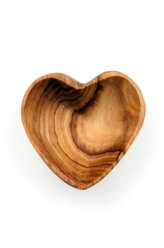 Olive wood Mini Heart Bowl - The Ethical Olive