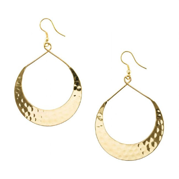 Crescent Moon Hoops-The Ethical Olive