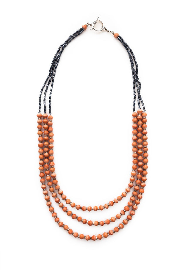 Paper Bead Necklace-The Ethical Olive