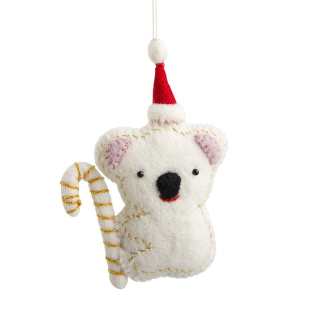 Felt Koala Ornament-The Ethical Olive
