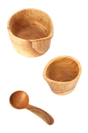 Olive Wood Cream & Sugar Set