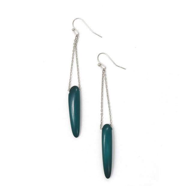 Quill Earrings: Midnight-The Ethical Olive