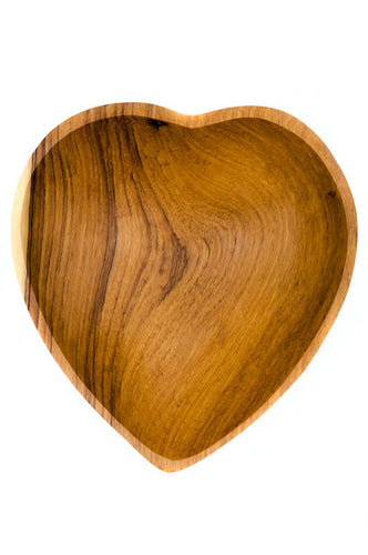 Olive Wood Heart Bowl - The Ethical Olive