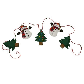 Snowman Garland-The Ethical Olive