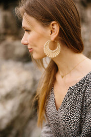 Woven Hoop Earrings-The Ethical Olive