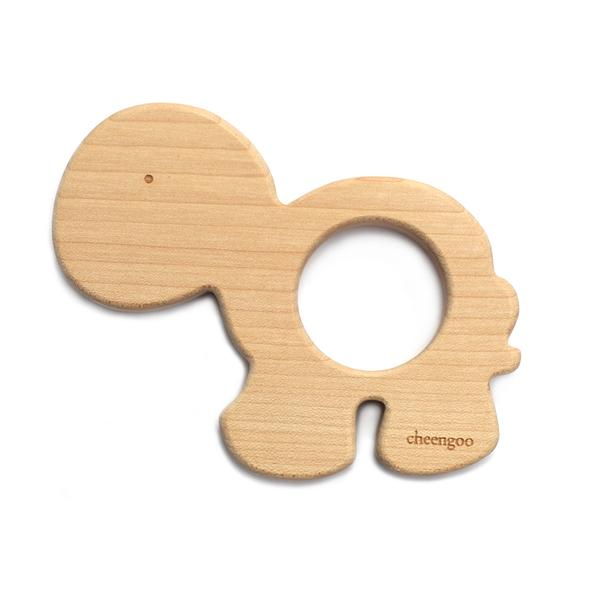 Natural Wooden Turtle Teether-The Ethical Olive