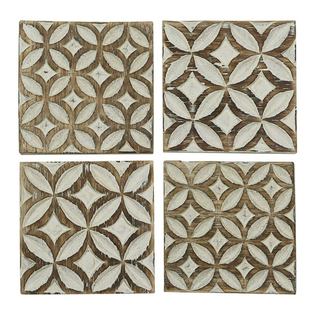 White Washed Coaster Set-The Ethical Olive