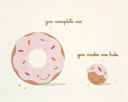 """You Complete Me"" Card-The Ethical Olive"