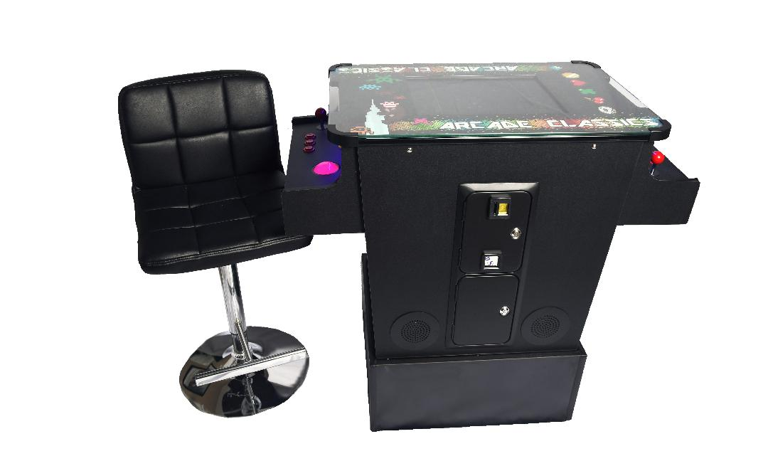 Full-sized Cocktail Table Arcade Game feat. 412 Classic and Golden Age Games with Trackball